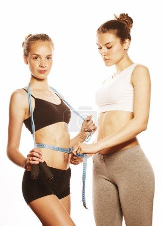 two sport girls