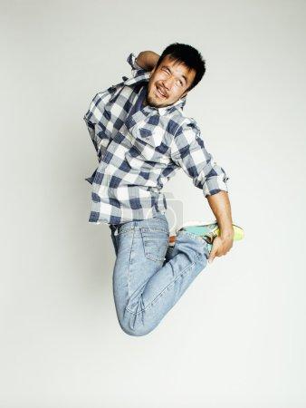 młody człowiek bardzo Azji skoki