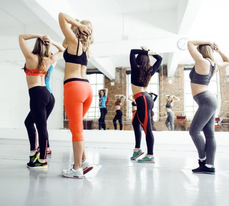 Women doing sport in gym