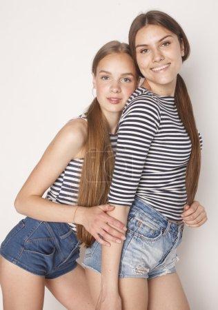 two cute teenagers