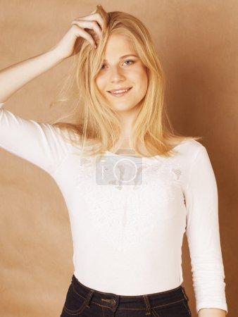 young cool blong teenage girl