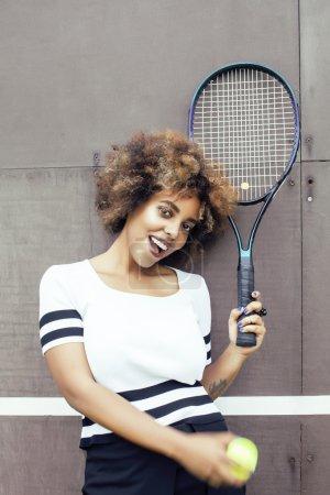 stylish mulatto afro-american girl