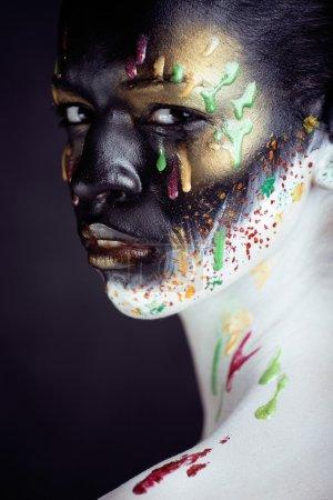 woman with creative make up closeup