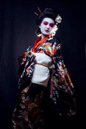 Beautiful geisha in kimono
