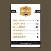 Barber shop vintage offer list template