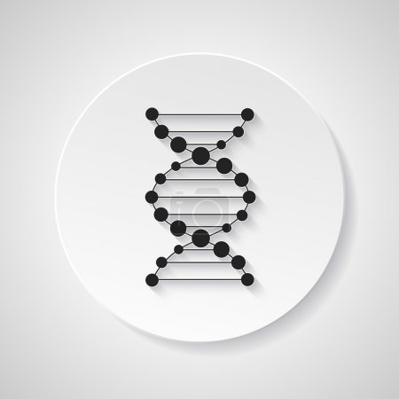 Illustration for Medical dna connection spiral infographic icon element - Royalty Free Image