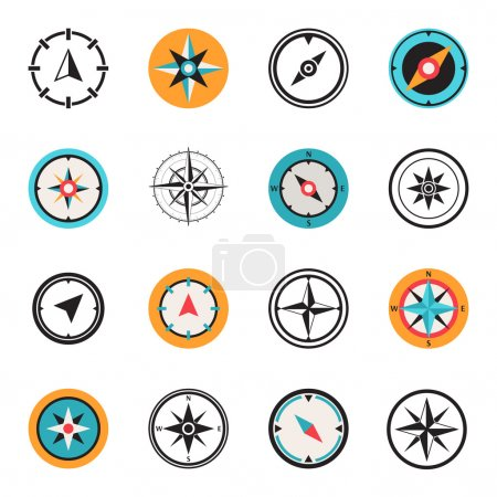 Wind rose compasses