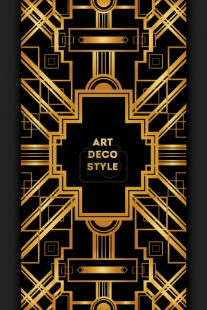 Art Deco vintage decorative frame.