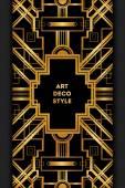Art Deco vinobraní dekorativní rám