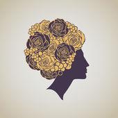 Luxury woman profile