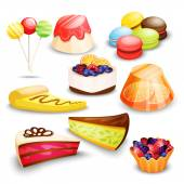 Sada sladkosti, koláče a jiné moučníky