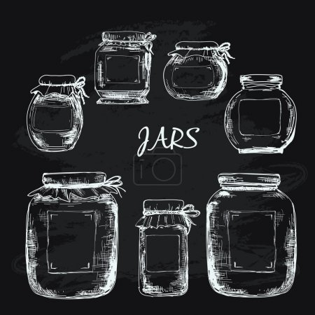 Jars with label