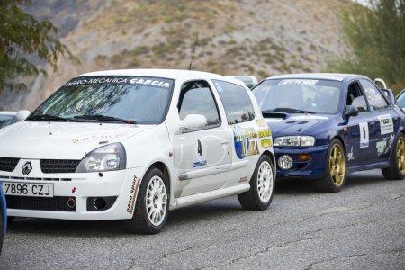 "GRANADA, SPAIN - SEP 27: Unknown Racer in the ""Primer Rally-Crono el Purche"" , on Sep 27, 2014 in Granada, Spain."