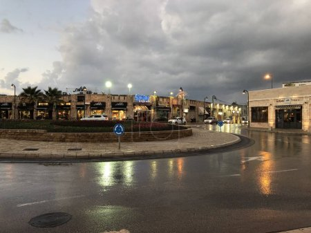 the streets of Jaffa after the rain Israel