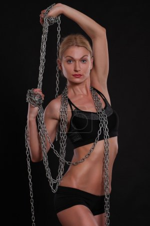 girl with chains