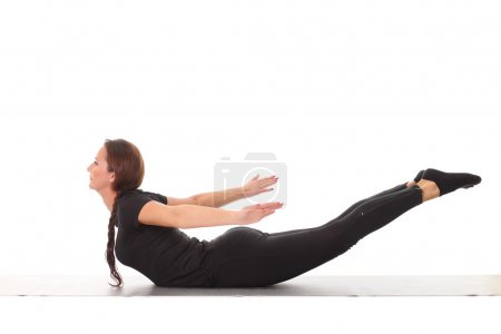 Photo for Young flexible girl doing yoga - Royalty Free Image