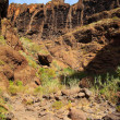 Mountain landscapes of gorges maska, Canary Island...
