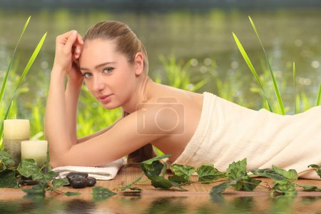 Photo for Young, beautiful and healthy woman getting spa treatment - Royalty Free Image