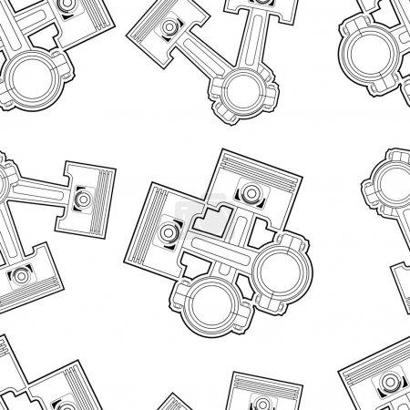 Illustration pour Piston motif vectoriel sans couture illustration clip art - image libre de droit