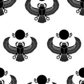 Scarab silhouette vector seamless pattern illustration clip art