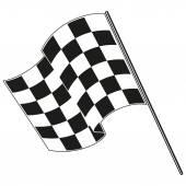 Checkered flag racing Stock vector illustration Clip art