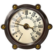 Vintage Speedometer isolated on white background Computer icon