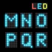 Blue dotted LED display letter Vector illustration
