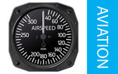 Analogical aircraft airspeed indicator Vector illustration Gradient mesh