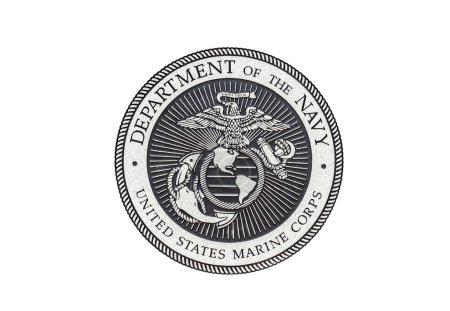 Photo pour Sceau officiel du Corps des Marines des États-Unis sur fond blanc . - image libre de droit