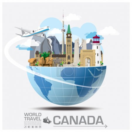 Canada Landmark Global Travel And Journey Infographic