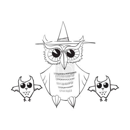 Hand drawn Halloween illustration.