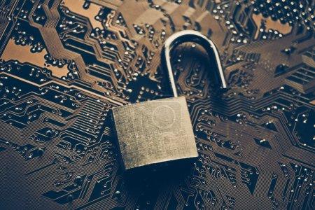 Unlock security lock on circuit board
