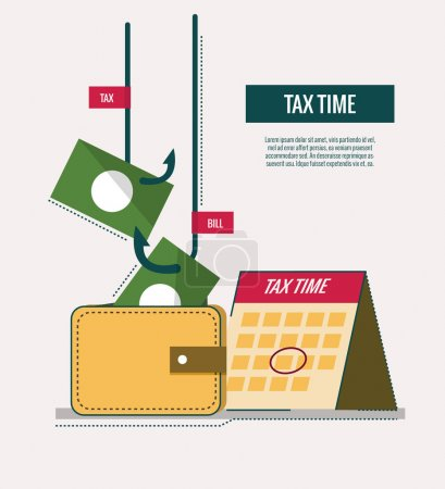 Tax time concept. website banner, template, poster, icons.