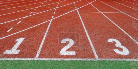 Photo for A picture of a red plastic track high quality photo - Royalty Free Image