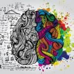 Creative concept of the human brain, vector illust...