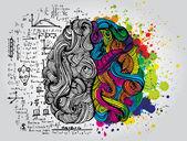 Creative concept of the human brain vector illustration
