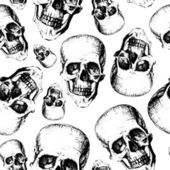 Skulls on texture background