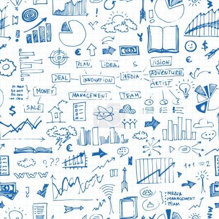 Business doodles pattern