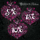 Hearts with 5 10 15 percent sales