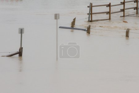 Flood Water Surrounding Sign