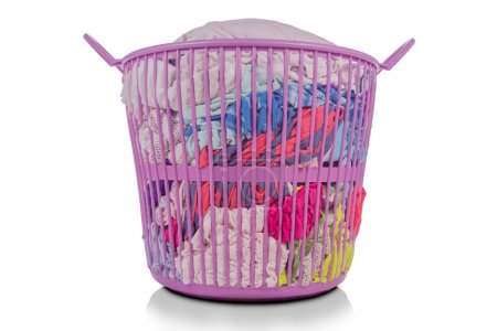 Prepare to wash clothes in the basket.