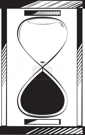 Empty egg timer or hourglass