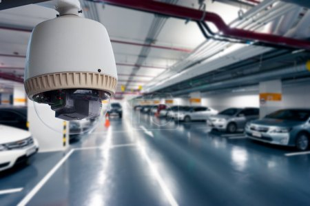 CCTV Camera Operating in car park building