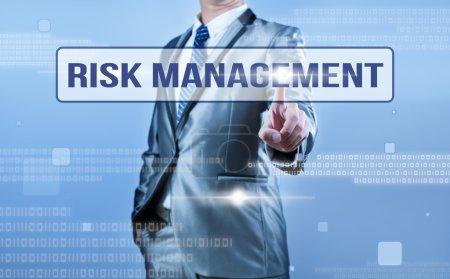 businessman making decision on risk management
