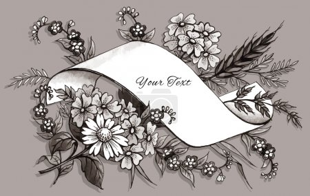 Hand Drawn Greeting Card Template
