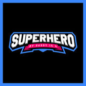 Super hero power full typography t-shirt graphics