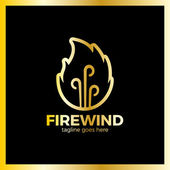 Fire Three Wind Logo Hot bonfire