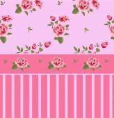 Beautiful seamless floral pattern flower vector illustration Elegance wallpaper with of pink roses on floral background