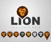 Web icons A set of vector logos lion