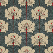 Seamless pattern with beige flowers